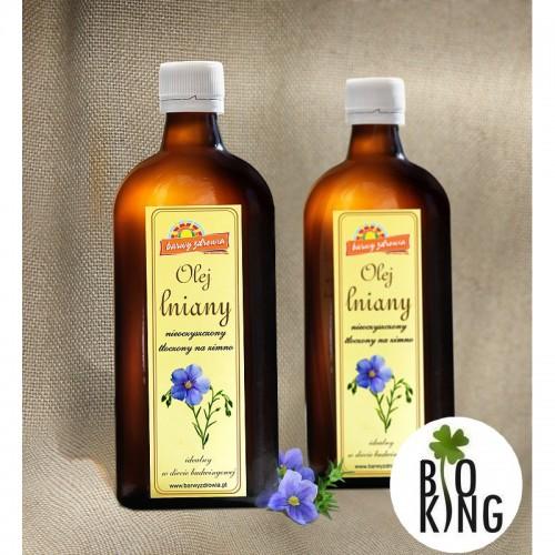 Olej lniany - Barwy Zdrowia