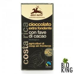 Czekolada gorzka z kawałkami kakao fair trade bio - Alce Nero