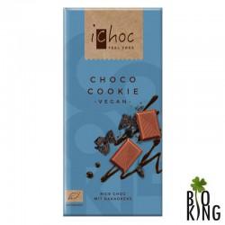 Ichoc czekolada z kawałkami ciastek kakaowych bio - Vivani
