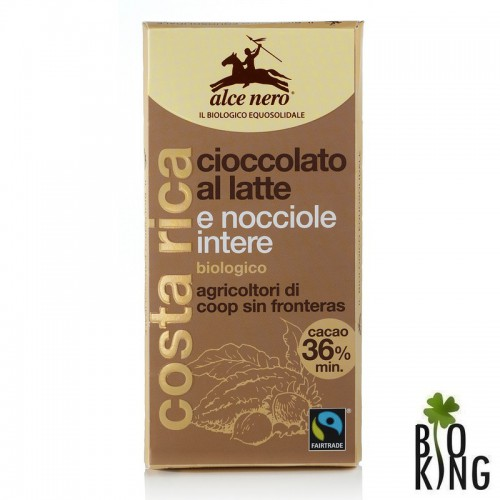 Czekolada mleczna z orzechami fair trade bio - Alce Nero
