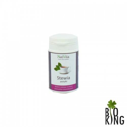 Stewia - słodzik naturalny pastylki (tabletki) NatVita