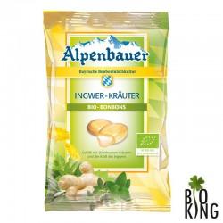 Cukierki ziołowe bio z imbirem Alpenbauer