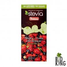 Czekolada gorzka z owocami leśnymi Stevia Torras
