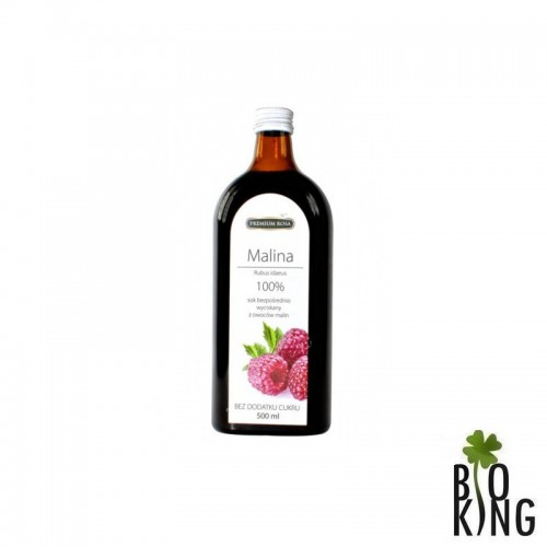 Sok wyciskany z malin bio 100% Premium Rosa