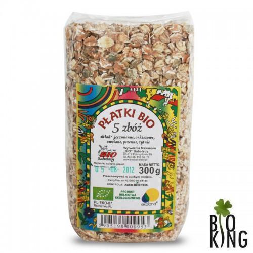 Płatki 5 zbóż bio organiczne Babalscy