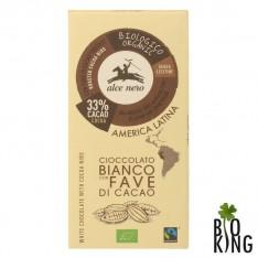 Czekolada biała z kawałkami kakao bio Alce Nero