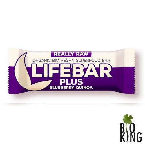 Baton raw z jagodą i quinoa bez glutenu Life Bar