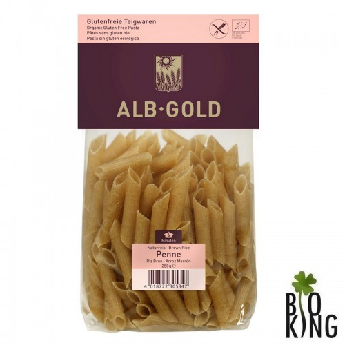 Makaron penne z ryżu brązowego bez glutenu Alb Gold