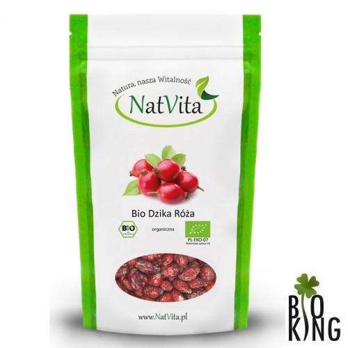 Dzika róża owoce suszone organiczne NatVita