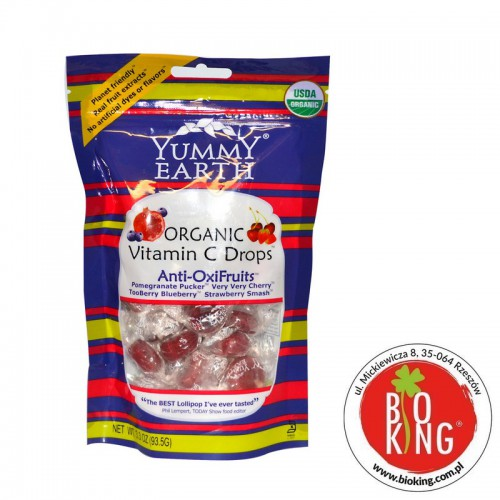 Cukierki owocowe bio z witaminą C AntiOxi YumEarth Organics
