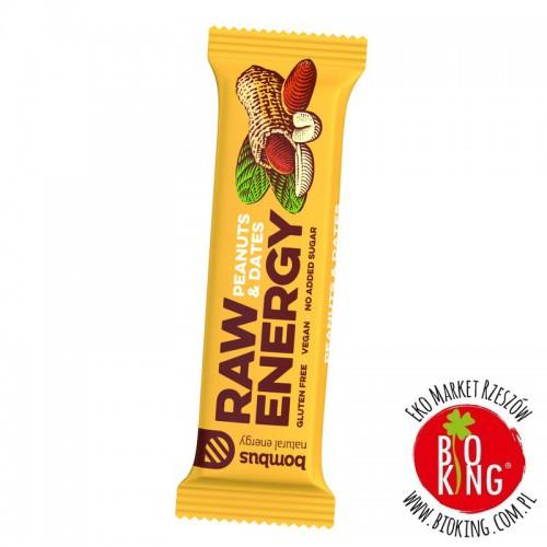 Baton energetyczny Raw Energy Bombus orzeszki i daktyle