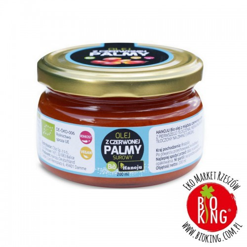 Olej palmowy czerwony surowy bio Hanoju