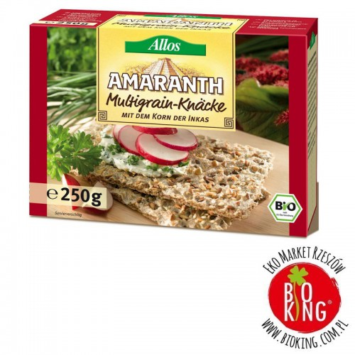 Pieczywo chrupkie amarantusowe wielozbożowe bio Allos