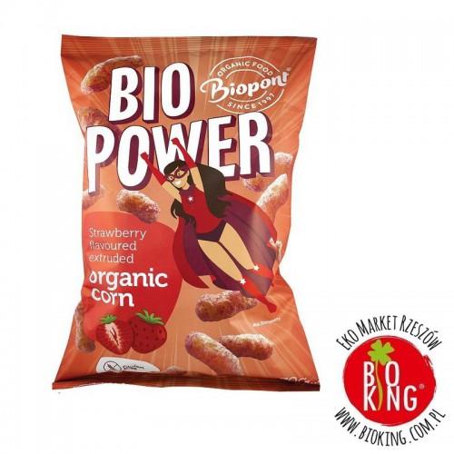 Chrupki kukurydziane o smaku truskawkowym bio Biopont