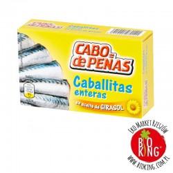 Małe makrele w oleju słonecznikowym Cabo de Penas