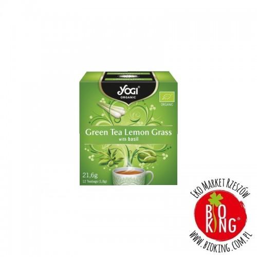 Ajurwedyjska herbata z ziół z zieloną herbatą Yogi