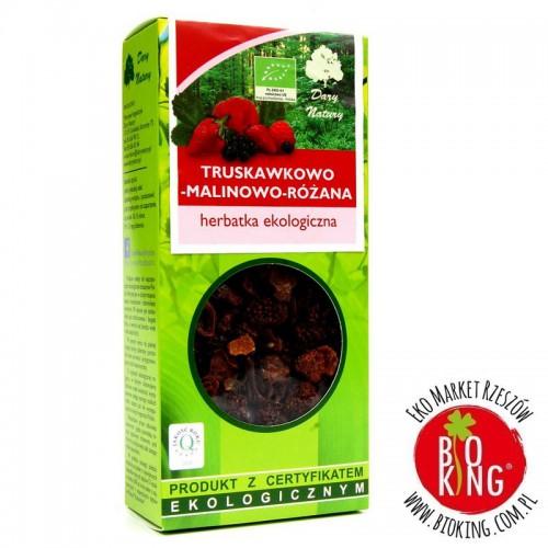 Herbatka bio truskawkowo - malinowo - różana Dary Natury