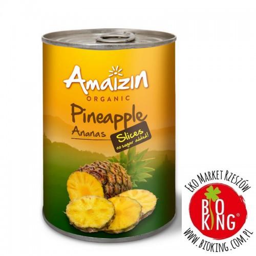 Ananas bio plastry w soku własnym Amaizin