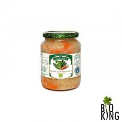 Ekologiczna kapusta kiszona z marchewką