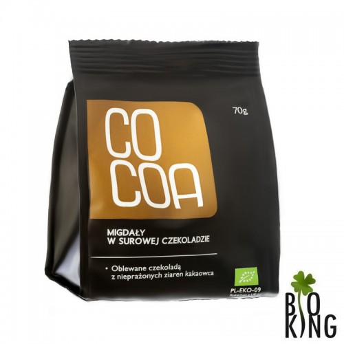 Migdały w surowej czekoladzie bio - Cocoa
