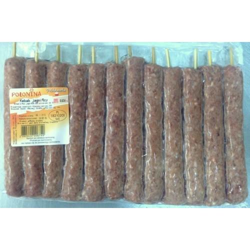 Kebab jagnięcy na grilla - doprawiony
