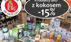 Promocja -15% na eko produkty z kokosem !