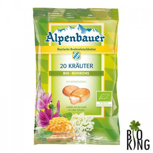 Cukierki na kaszel bio z 20 ziołami Alpenbauer
