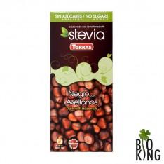 Czekolada Stevia gorzka z orzechami laskowymi Torras