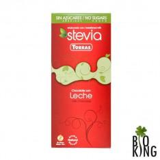 Czekolada mleczna bez cukru Stevia Torras