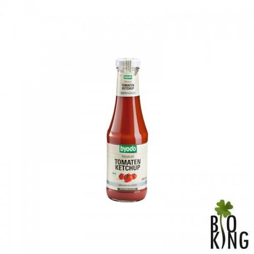 Ketchup pomidorowy bez glutenu słodzony syropem z agawy Byodo