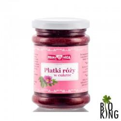 Płatki róży ucierane w cukrze Polska Róża