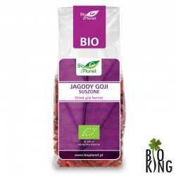 Jagody goji suszone organiczne bio Bio Planet