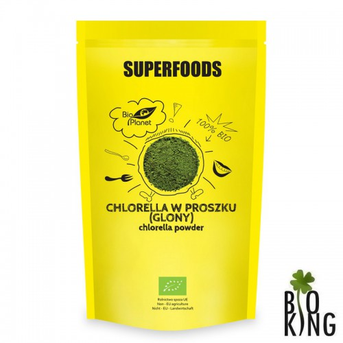 Chlorella w proszku (glony) bio Bio Planet Superfoods
