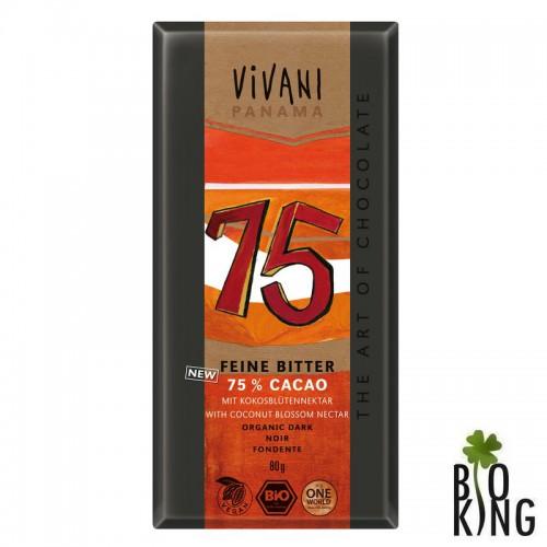Czekolada gorzka 75% organiczna bio Vivani