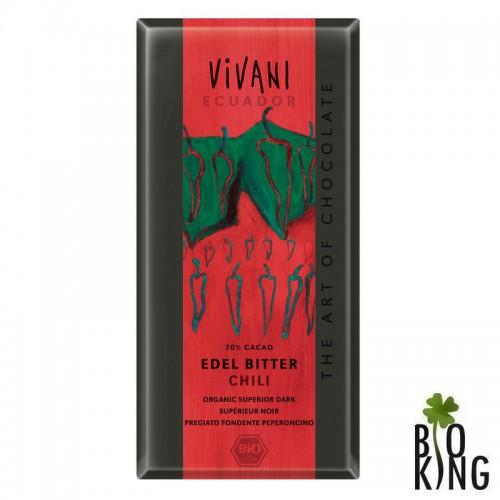 Czekolada gorzka z chilli bio organiczna Vivani