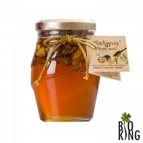 Miód Honey Moon sos-tym z orzechami Meligyris