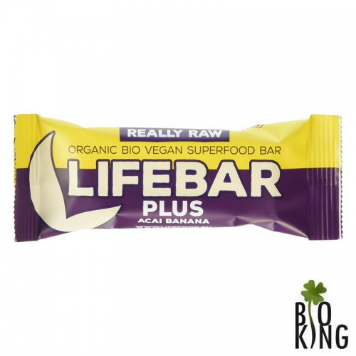 Baton z acai i bananem raw bez glutenu LifeBar