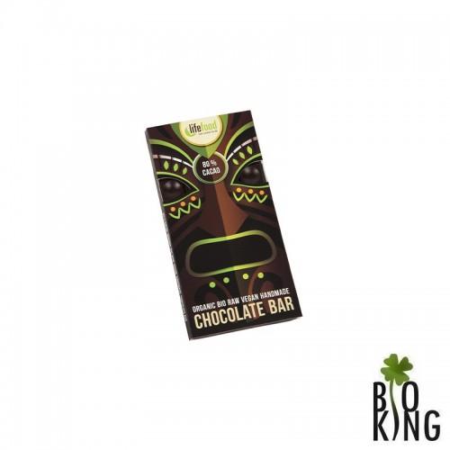 Czekolada raw 80% kakao bez glutenu LifeFood