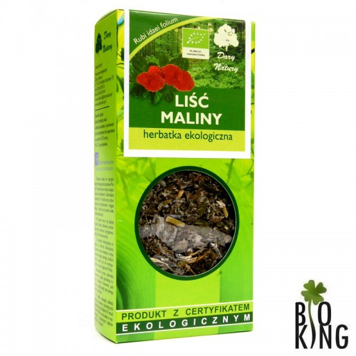 Herbatka liść maliny bio ekologiczna Dary Natury