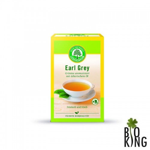 Herbata zielona earl grey eksp. bio Lebensbaum