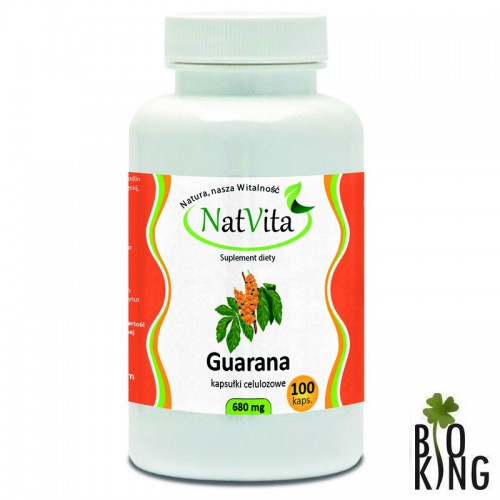 Guarana mielona ekstrakt 22% lub kapsułki NatVita