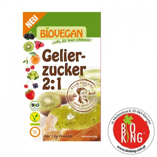 Cukier żelujący z pektyną 2:1 bio Biovegan