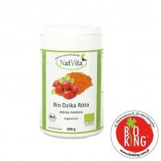 Dzika róża skórka mielona organiczna bio NatVita
