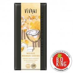 Biała czekolada z mango i kokosem bio Vivani