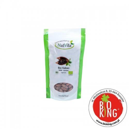 Kakao bio surowe raw całe ziarno NatVita