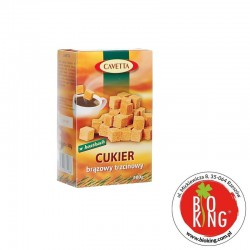 Cukier brązowy trzcinowy w kostkach bio Cavetta