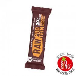 Baton 20% białka Bombus Raw Protein masło orzechowe