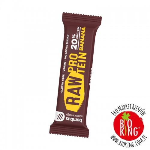Baton białkowy Bombus Raw Protein Cocoa Beans banan