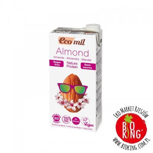 Napój migdałowy bez cukru z podwyższoną zawartością białka Ecomil