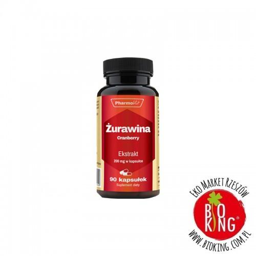 Żurawina ekstrakt 200 mg kapsułki PharmoVit